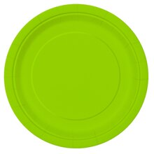 "9"" Neon Green Party Plates, 16ct"